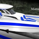 Unveiling of New MTI-V 42 Center Console – Miami Boatshow
