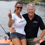 MTI Catamaran Hits 180 MPH by Fastest Woman in LOTO Shootout History