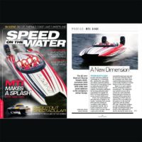 MTI 340X Featured On Cover of Speed On The Water 20th Issue Magazine