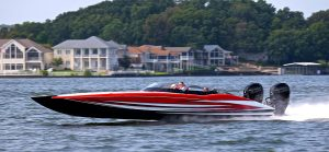 MTI 340X Catamaran Powered by Mercury Racing 400R Engines