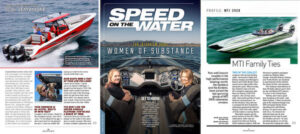 MTI's Taylor Scism Featured in Speed On The Water's Women of Substance Issue